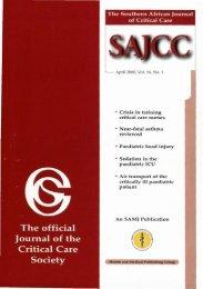 2000 Apr Vol 16 No. 1.pdf - SAJCC Archive Browser - Southern ...