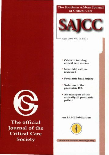 2000 Apr Vol 16 No. 1.pdf - SAJCC Archive Browser - Southern ...