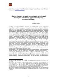 'The Persistence of Anglo-Saxonism in Britain and the origins of