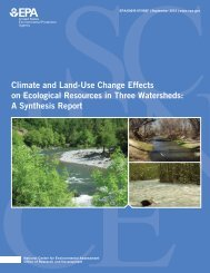 A Synthesis Report - United States EPA Web Server - US ...