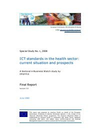 ICT standards in the health sector: current situation and ... - empirica