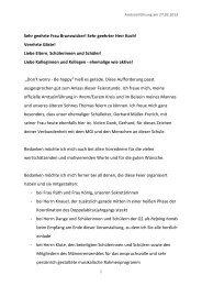 Verabschiedung Reinhard Schürmann - Begrüßung und offizielle ...