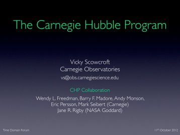 Vicky Scowcroft Carnegie Observatories