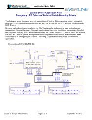 Emergency LED Drivers w - Universal Lighting Technologies