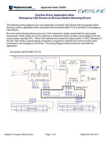 Emergency LED Drivers w - Universal Lighting Technologies