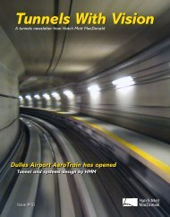 Tunnels With Vision, Issue 10 [PDF] - Hatch Mott MacDonald