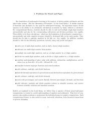 1. Problems for Pencil and Paper The foundation of mathematics ...