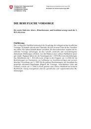 DIE BERUFLICHE VORSORGE - Pensions-kassen.ch