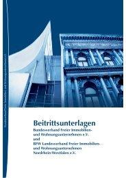 Beitrittsunterlagen - BFW Bundesverband Freier Immobilien