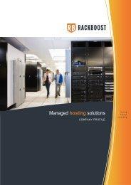 Managed hosting solutions - RACKBOOST