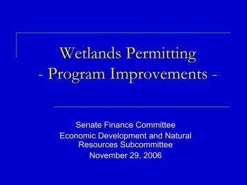 DEQ – 404 Delegation and Water Quality - Virginia Senate Finance ...