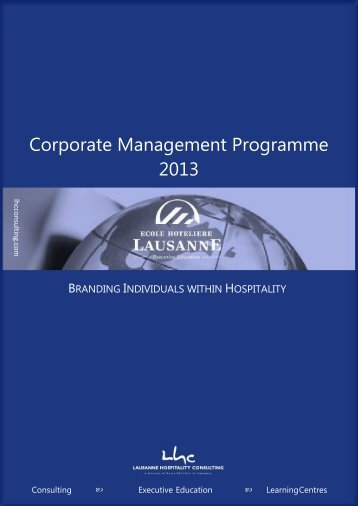 Corporate Management Programme 2013 - Lausanne Hospitality ...