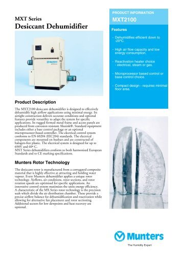 Product Sheet - Munters