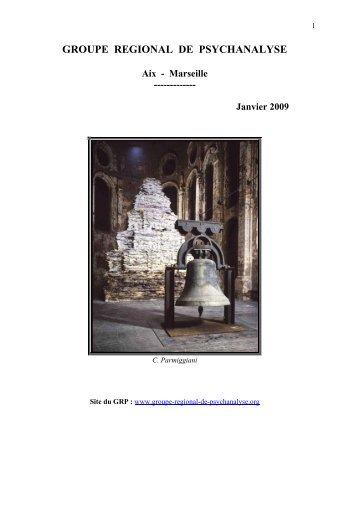 Janvier 2009 - groupe régional de psychanalyse