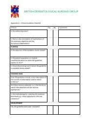 Clinical Guideline Checklist - BDNG