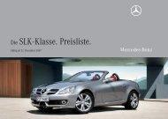 Die SLK-Klasse. Preisliste. - HEHNweb.de