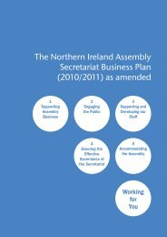 Secretariat Business Plan - the Northern Ireland Assembly Archive