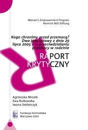 Raport krytyczny do ściągnięcia w pliku pdf - Feminoteka