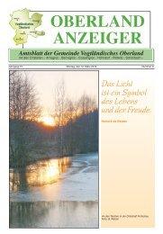 OBERLAND ANZEIGER Amtsblatt der Gemeinde Vogtländisches ...