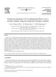 Numerical simulation of two-dimensional flows over a circular ...