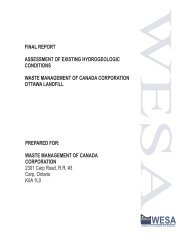 final report assessment of existing hydrogeologic - West Carleton ...