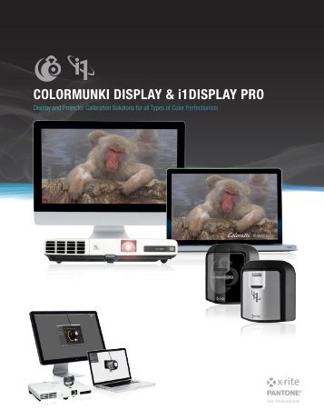 COLORMUNKI DISPLAY & i1DISPLAY PRO - X-Rite