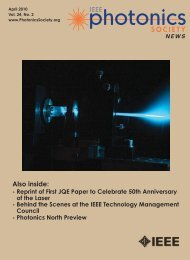 PDF of April Issue - IEEE Photonics Society