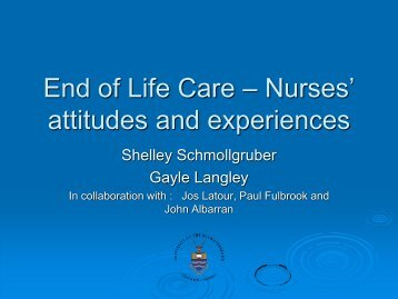 End of Life Care – Nurses' attitudes and experiences - European ...
