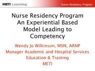Nurse Residency Program An Experiential Based Model Leading to ...