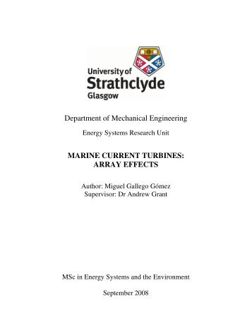 Array Effects - Energy Systems Research Unit - University of ...