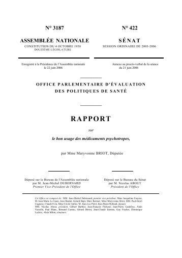 RAPPORT - SFRMS