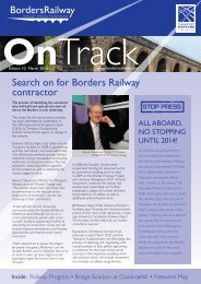 Search on for Borders Railway contractor - Transport Scotland