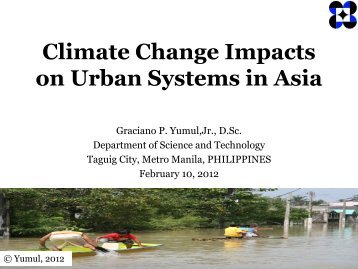 Climate Change Impacts on Urban Systems in Asia - Asia Pacific ...