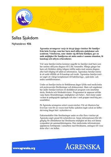 Sallas sjukdom 2012 - Ågrenska