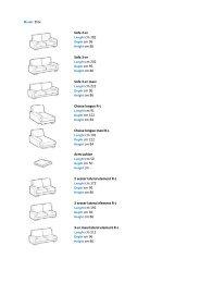Sofa 2-er Sofa 3-er Sofa 3-er maxi Chaise longue RL Chaise longue ...