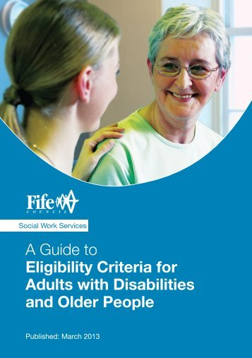 A Guide to Eligibility Criteria for Adults with Disabilities ... - Home Page