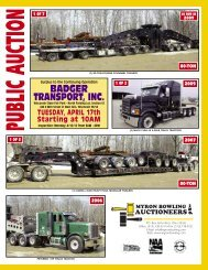 Badger transport, inc. - Myron Bowling Auctioneers