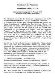 Jahresbericht 06 Präsi - Cercle des Chefs de Cuisine St.Gallen ...