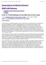 June 17: A UN Emphasis on the Wise Use of Dry Lands Ã'Â« AWC-UN ...