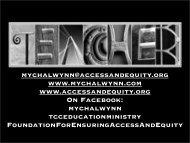 mychalwynn tcceducationministry Foundatio - Ensuring Access and ...