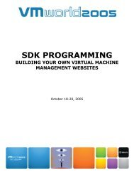 SDK PROGRAMMING - VMware