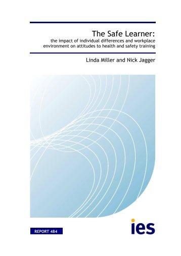PDF of this item - The Institute for Employment Studies