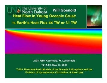 Heat Flow in Young Oceanic Crust: Is Earth's Heat Flux 44 TW or 31 ...