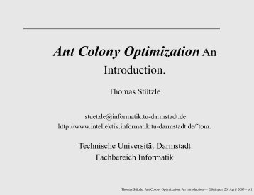 Ant Colony OptimizationAn