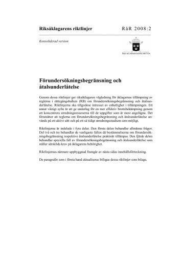 Riksåklagarens riktlinjer - Åklagarmyndigheten