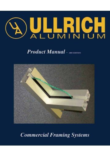 Commercial Framing Systems - Ullrich Aluminium