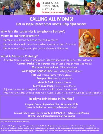 Moms In Training flyer - Tribeca Citizen