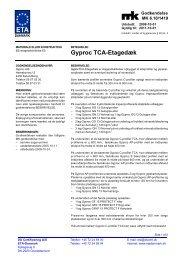 Gyproc TCA-Etagedæk