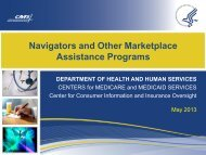 Navigators and Other Marketplace Assistance Programs