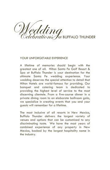 Wedding - Buffalo Thunder Resort & Casino